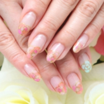 None Off lame gradation one color | Nail Salon Princess Road | Last-minute booking service Popcorn