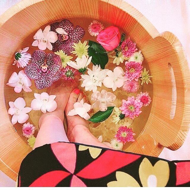 ●3名様 -雅- フォトジェニックなお花の足湯 50分コース