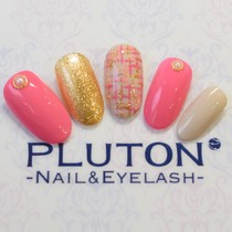 【All! Off Free & Care】 Tweed Nail (change color ♪) | PLUTON (pluton) | Last-minute booking service Popcorn