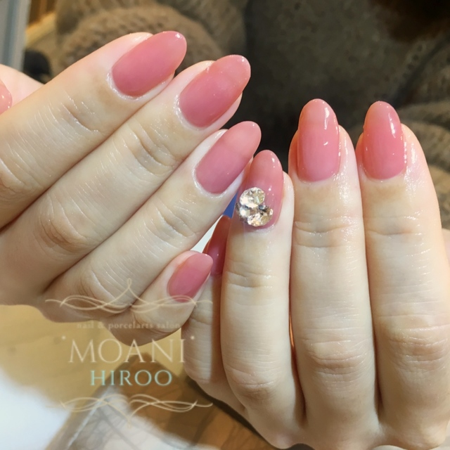 【Quantity Limited】 mao gel (Mao Gel) Glossy One Color Course | Nail salon 'MOANI' Hiroo Ebisu Shibuya store | Last-minute booking service Popcorn