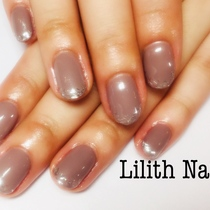 ☆ 【Gel with Off-Off】 One Color | Lilith Nail | Last-minute booking service Popcorn