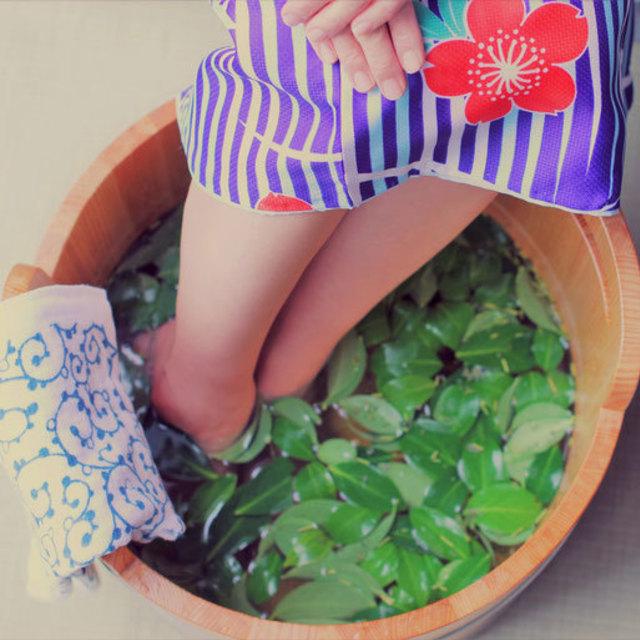 ●2名様コース -禅- お茶の香りの足湯   50分コース