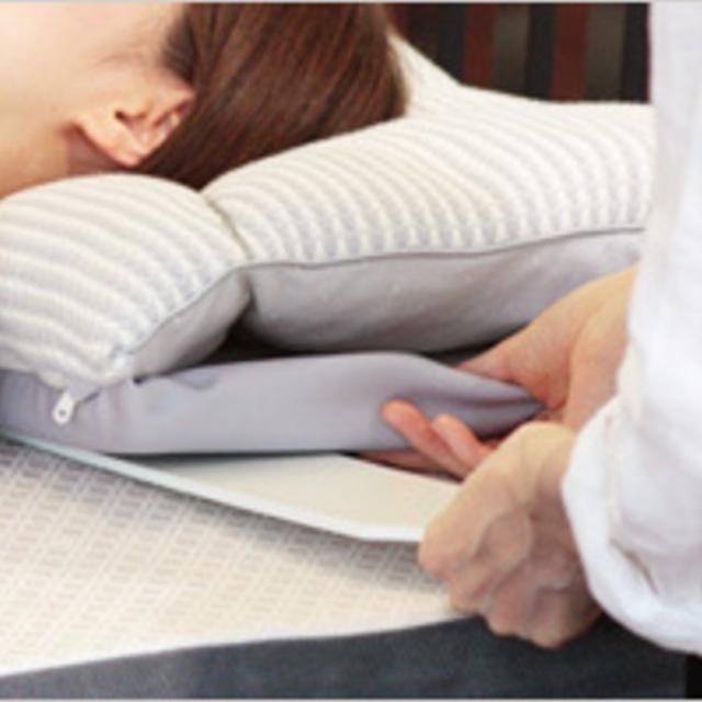 お買い上げいただいた オーダーメイド枕の調整