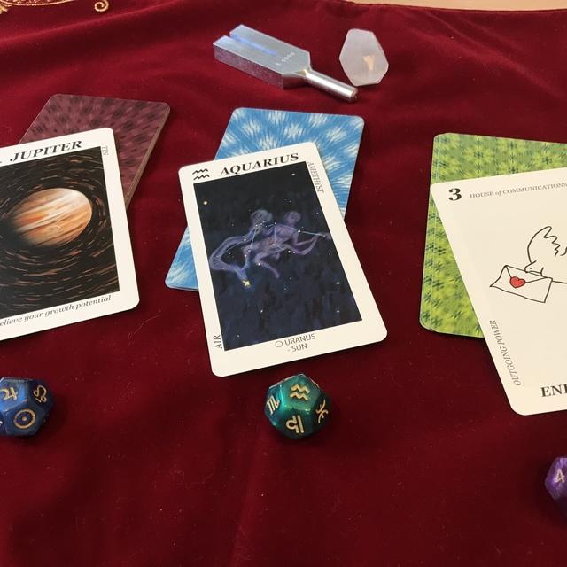 占星術アストロダイスカード・リーディング+ブロック解除  60分