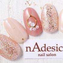 新規オフなし☆限定デザイン!!パールアクセアート☆ | nAdesico nail salon (なでしこネイルサロン) | 当日予約・直前予約 ポップコーン