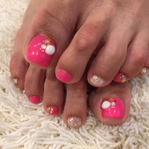 Foot gel nail | ChaleuR NailSalon | Last-minute booking service Popcorn