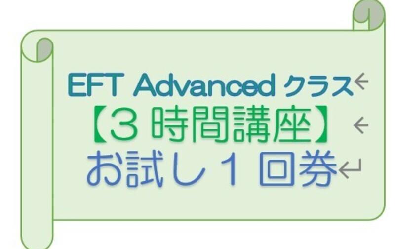 【3時間券】お試し1回券(1人1回限定) EFT Advanced用