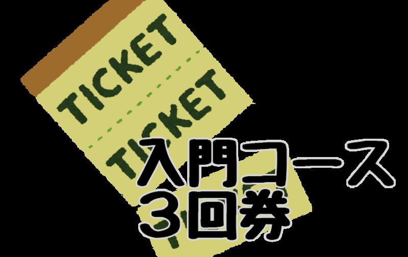 入門コース3回券