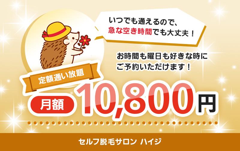 定額「通い放題」(14,800円→10,800円)