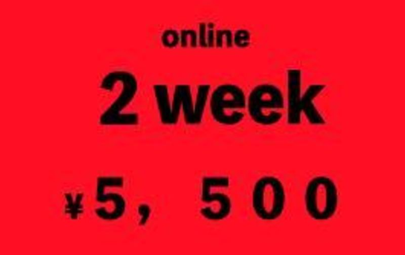 オンラインレッスン 2week