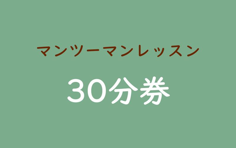[マンツーマンレッスン]30分チケット