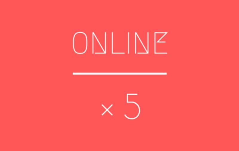 【オンライン】5回チケット