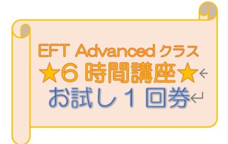 ★6時間券 お試し1回券(1人1回限定) EFT Advanced用