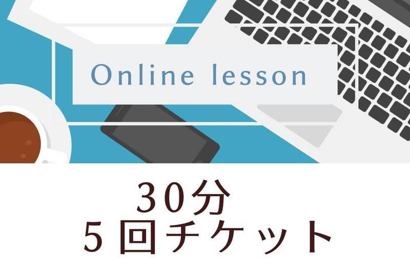 💻オンラインレッスン 30分 5回チケット ¥4,750