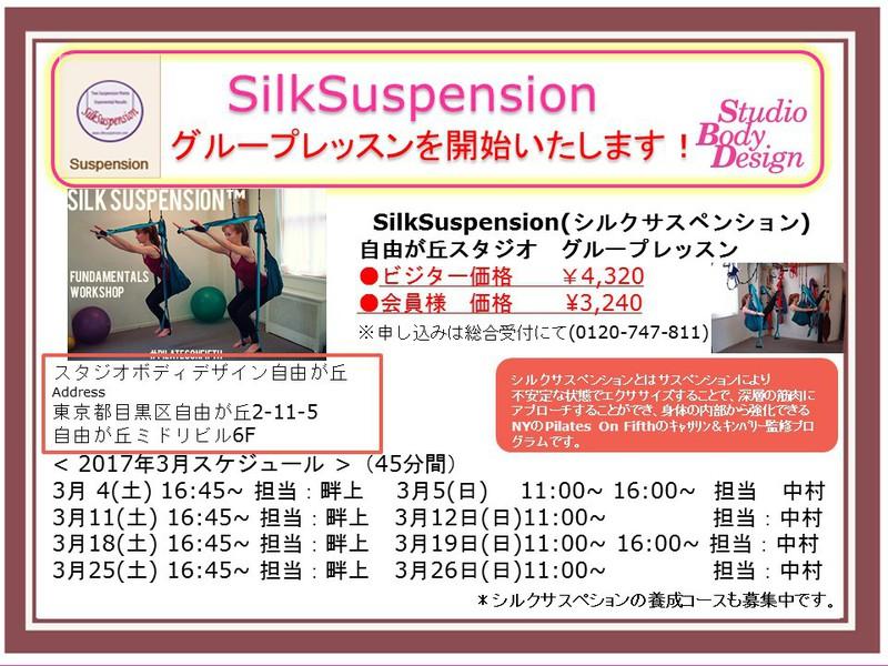 2017年3月【自由が丘スタジオ】SilkSuspensionグループ45分(担当:中村)