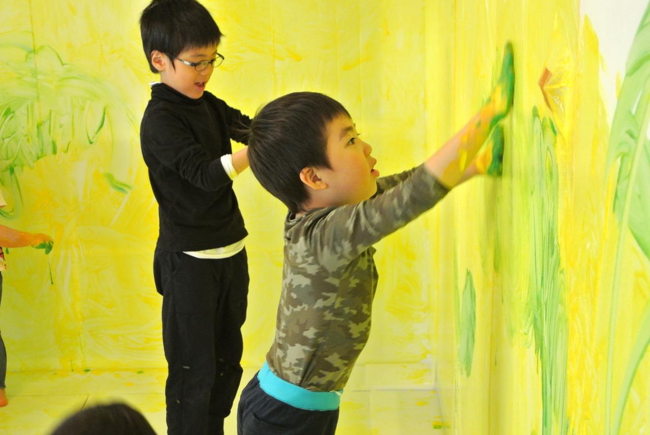 [3歳-小学生]全身でペイント!FREELY☆Shapes(形)3月