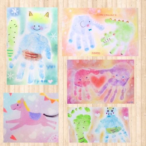 【ブランチ学園都市】親子で作ろう!手形ぺったんパステルアートorファーストカットアート