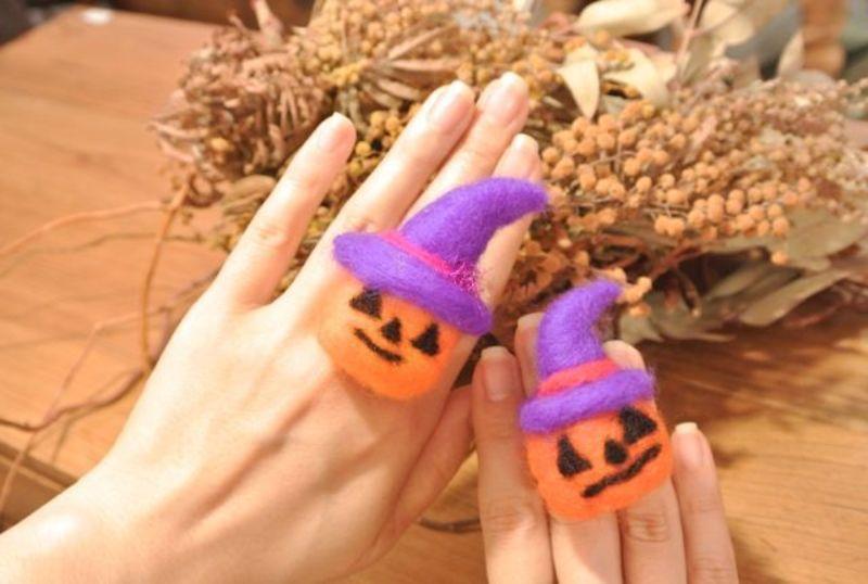 【渋谷ヒカリエ】羊毛フェルトでつくる ハロウィンかぼちゃの指輪 (60分)