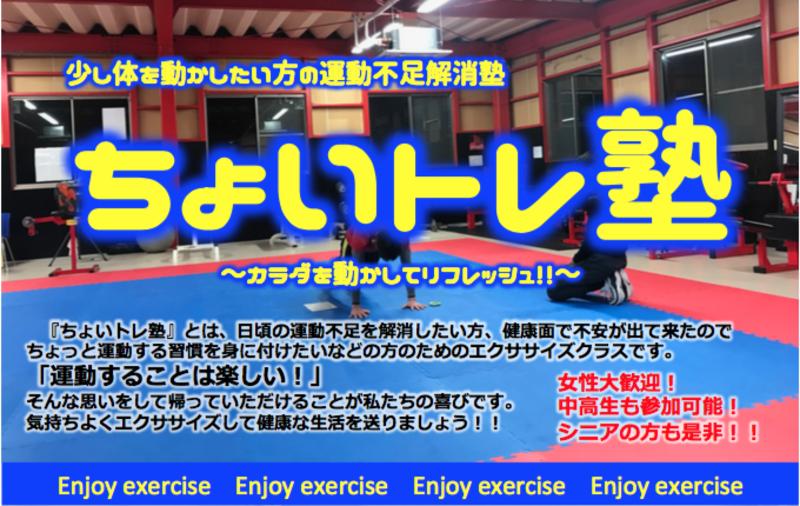 ちょいトレ塾 - 大人向け、運動不足の解消と健康の為に -