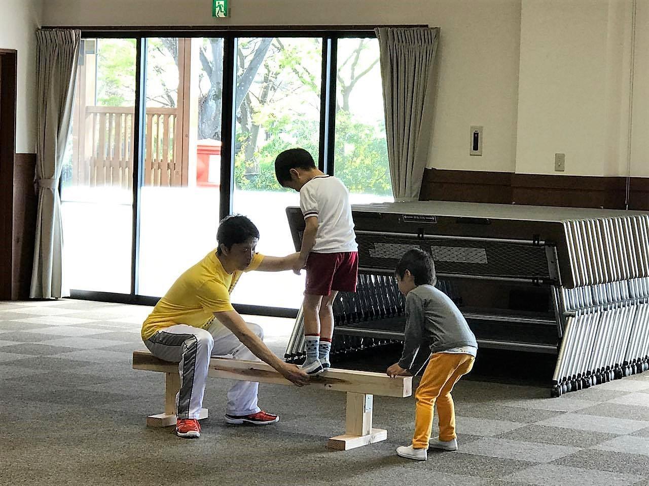 4・5・6歳児クラス☆ジョージ先生の楽しい体幹トレーニング教室@神戸市須磨区☆