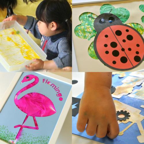 [2歳]飾れる作品を造ろう!Babyアート☆Animals(動物) 7月