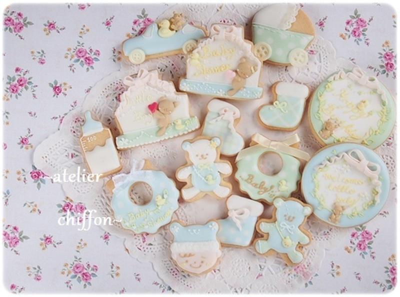 9月マンスリー ベビーシャワーアイシングクッキー