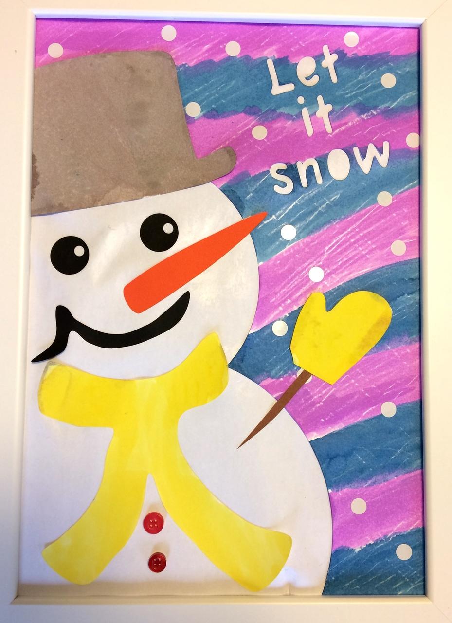 [2歳] 飾れる作品を造ろう!Babyアート☆Snow!(雪)