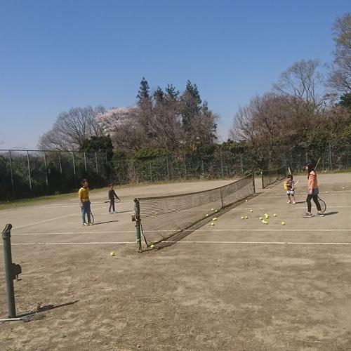 テニスコートA面(奥)