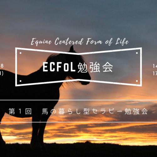 神戸【勉強会】[座学]第1回 馬の暮らし型セラピー勉強会 -ECFoL勉強会-