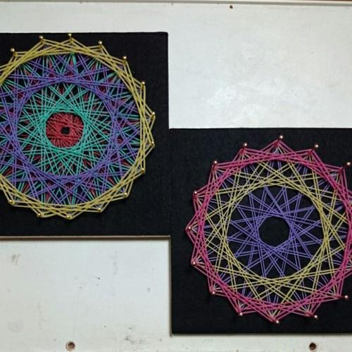 【函館】第2回 親子で楽しむゴム掛け曼荼羅アート~幾何学模様って楽しいよ!