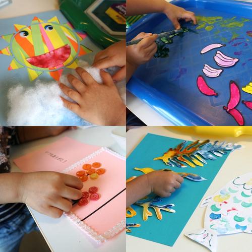 [2歳]飾れる作品を造ろう!Babyアート☆Space(宇宙) 11月