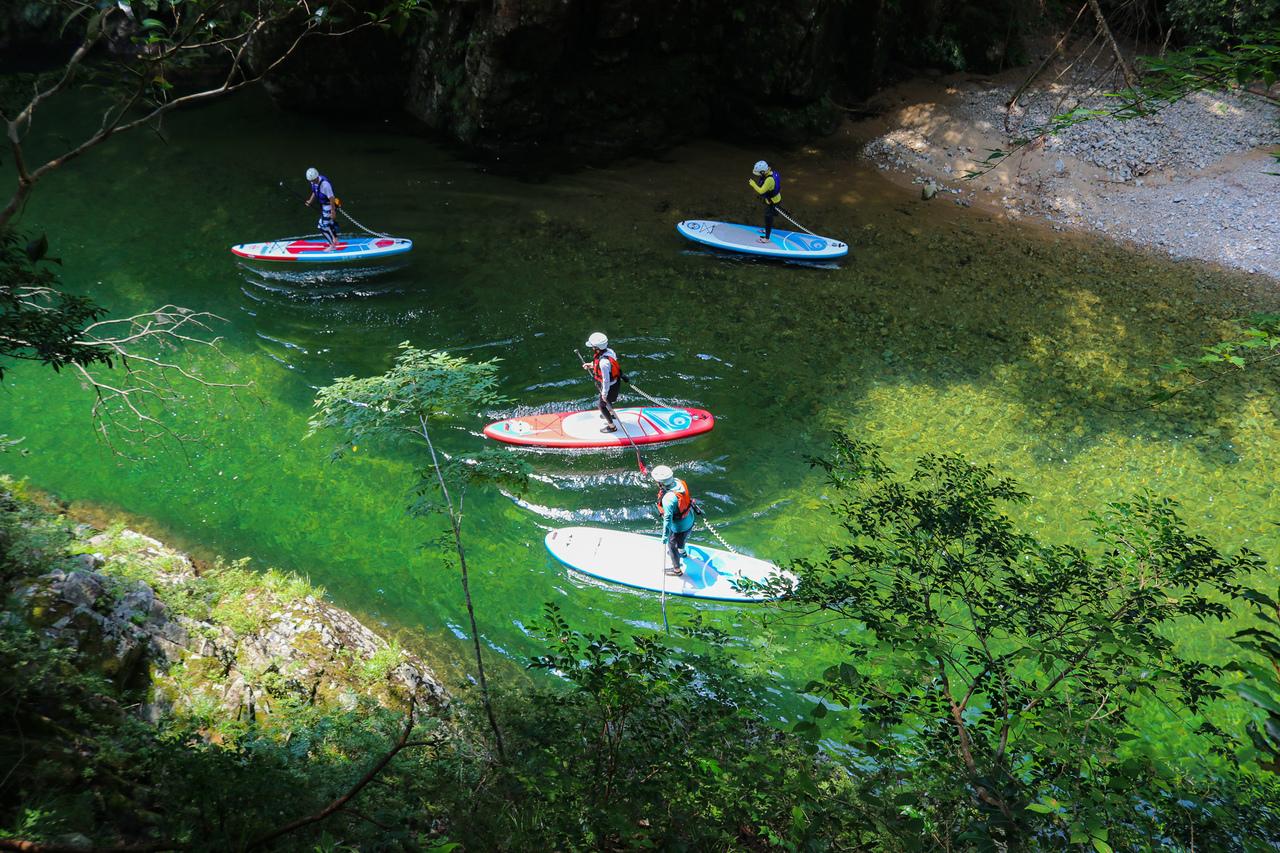 【広島・SUP】秘境三段峡の透き通る水の美しさでアクティブ&リラックス