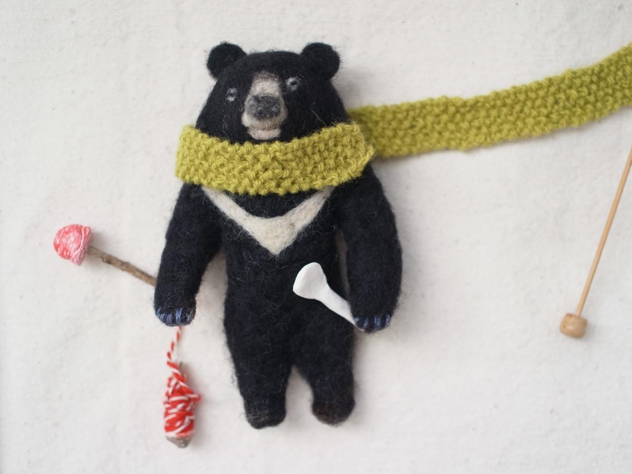 【布博 in 東京 vol.12】緒方伶香 「 羊毛で作るブラックベア(台湾黒熊) 」