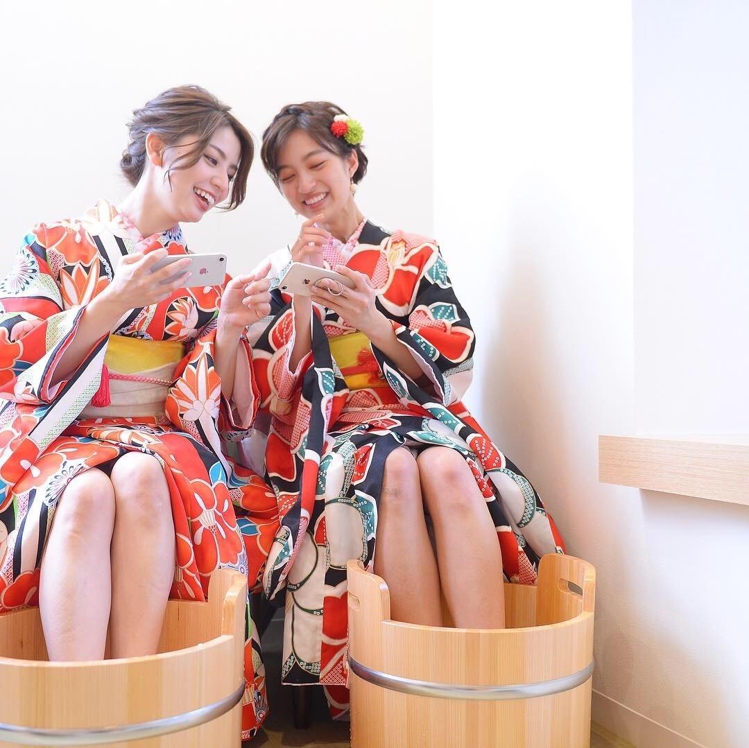 レンタル着物コラボプラン Rental KIMONO wearing combo