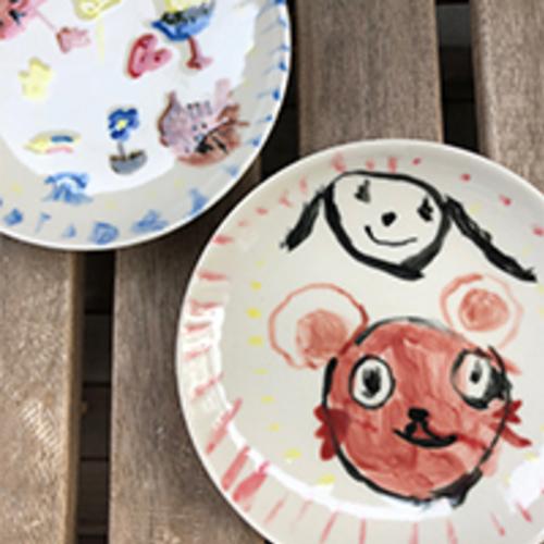子ども絵皿ワークショップー陶芸のおはなしー