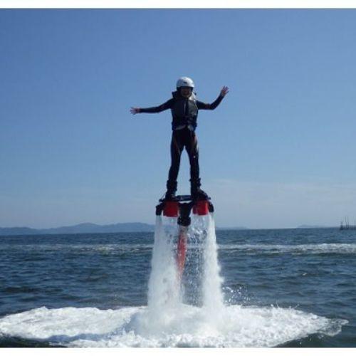 リミット★ ①フライボード体験(水圧で飛ぶ!)1名より受付