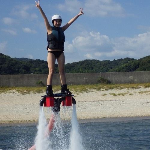 リミット★ ①フライボード体験15分(水圧で飛ぶ!)1名より受付