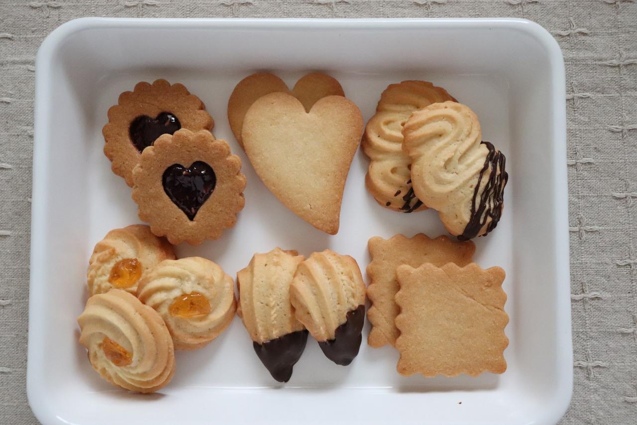 基本のお菓子 クッキー3種