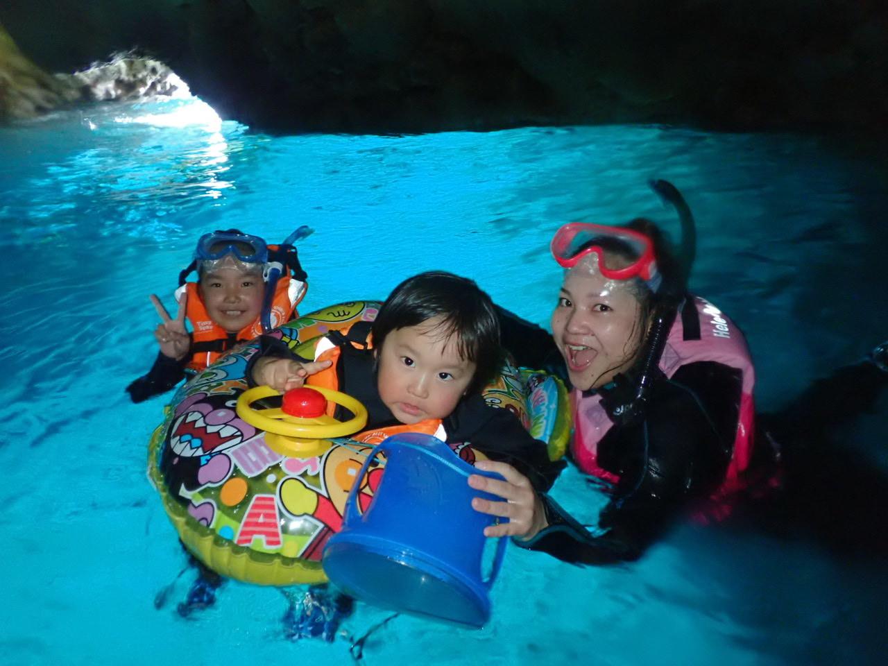 青の洞窟シュノーケル 3,900円 2歳3歳は無料!