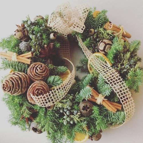 クリスマスアレンジレッスン