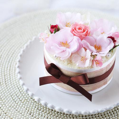【4月】桜のフラワーケーキ