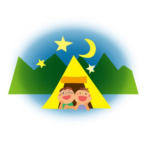 お山のテントサイト(4月分)