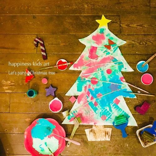 12月Little★ぬりぬりぺったん大きなツリータペストリーを作ろう♪