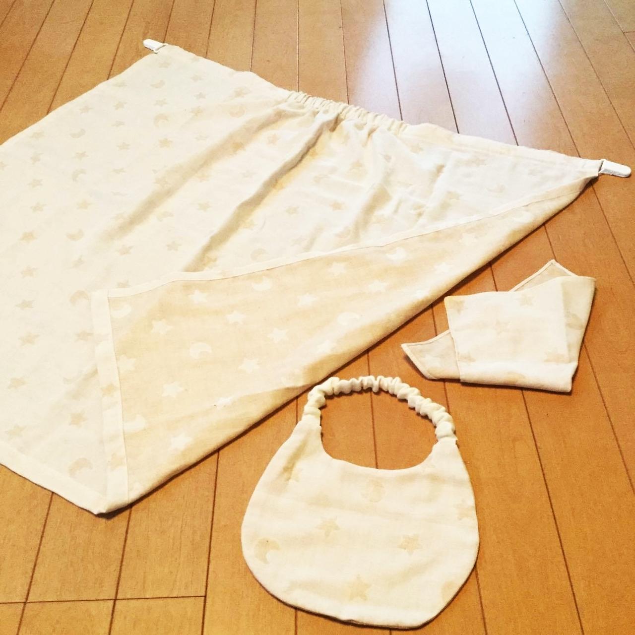MAMAstyleプレママ&ビギママサロン~ダブルガーゼでマルチケット(授乳ケープ)とベビースタイを作ろう~