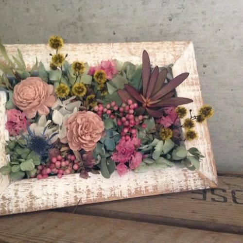 お花のインテリアフレーム教室