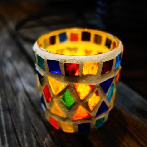 ランチ付き!モザイクガラスのキャンドルホルダー作り