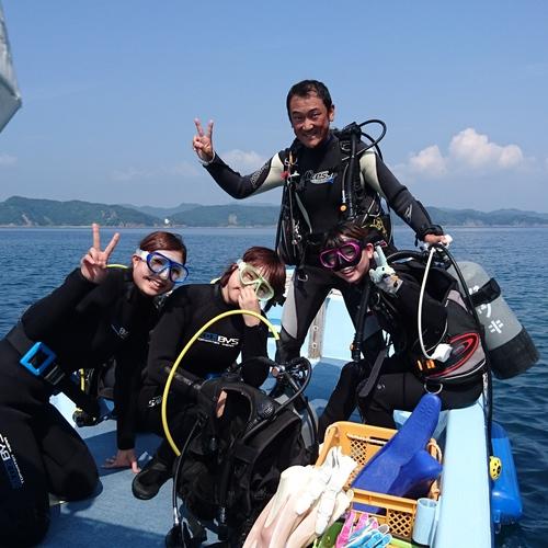 D【ボートで大島・スクーバダイビング体験】