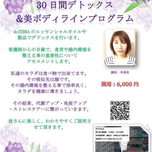 ★李善英講師【30日間デトックス&美ボディラインプログラム】