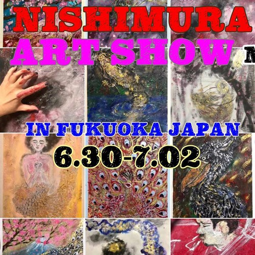 MARI NISHIMURA ART SHOW IN FUKUOKA JAPAN