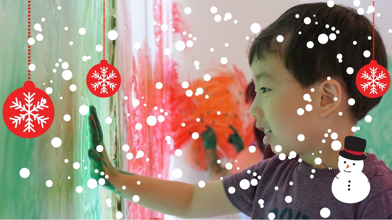 [3歳-小学生]全身でペイント!FREELY☆Christmas(クリスマス) 12月
